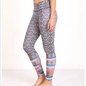 Onzie Tribal Tight S/M Bright Fitness Yoga NEW